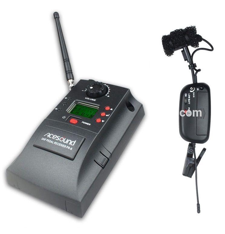 ACEMIC PR-6/V2 UHF 500-980 mhz 32CH Senza Fili Sassofono Tromba Mic Microfono