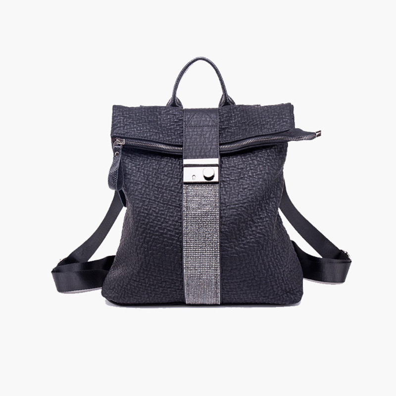 New High Quality Twin Backpack Womens Fashion Trend Soft Leather  Casual Wild Large-Capacity Bag