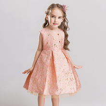 New pattern baby girl clothes tutu dress Birthday party Wedding presiding Stage performance Embroidery Flower flower girl dress fahsion new children birthday wedding party princess dress cute costume t stage show performance flower dress