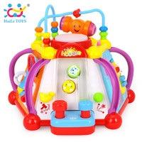 צעצועי HUILE 806 מוסיקלי צעצוע תינוק לשחק מרכז פעילות קובייה צעצוע עם 15 פונקציות & מיומנויות למידה צעצועים חינוכיים ילדים