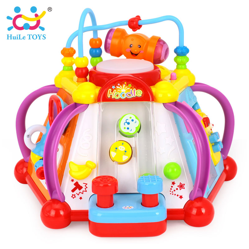 HUILE TOYS 806 Baby Toy Musical Activity Cube Play Center Toy with 15 Functions & Skills Learning Educational Toys for Children sassy seat doorway jumper 5 toys with musical play mat