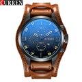 Curren Homens relógio do Esporte Ocasional Relógio de Quartzo Mens Relógios Top Marca de Luxo de Quartzo-Relógio com Pulseira de Couro Relógio de Pulso Militar Relógio masculino