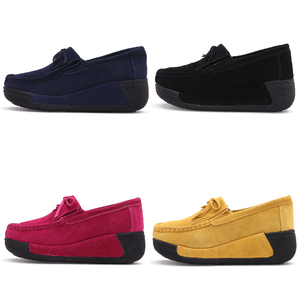 Image 3 - STQ 2020 Autumn Women Flats Shoes Tassel Fringe Platform Shoes Leather Suede Casual Shoes Slip On Flats Footwear Creepers 1319