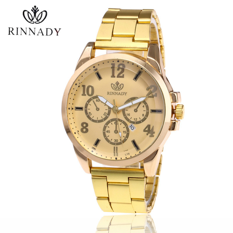 Men Watches Top Brand Luxury Auto Date Stainless Steel Clock Gold Casual Watch Men's Quartz Sports Wrist Watch Relogio Masculino men watches top brand luxury day date luminous hours clock male black stainless steel casual quartz watch men sports wristwatch