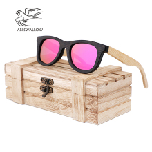 AN SWALLOW Brand Design Children Sunglasses Multi-color Frame Wooden S