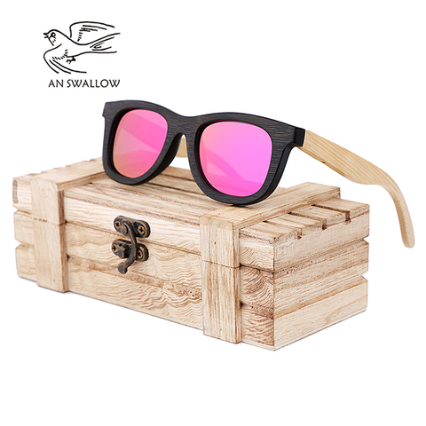 AN SWALLOW Brand Design Children Sunglasses Multi-color Frame Wooden Sunglasses for Child Boys Girls Sunglasses Wood TAC UV400 Pakistan