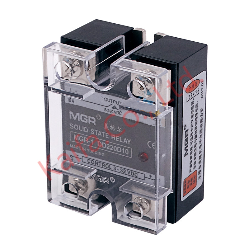 цены Mager SSR-10A DC-DC MGR-1DD220D10 Single Phase Solid State Relay input 3-32VDC output 5-220VDC Control current 5-25mADC