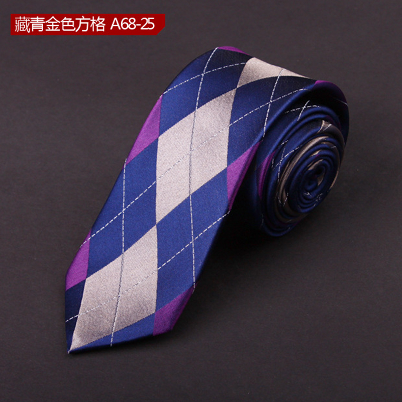 Shirt Neck Tie Jacquard Gravatas Geometric Print Mens Ties Cravat Necktie Silk Ties Fashion Onesize Ties For Men DaA68-25