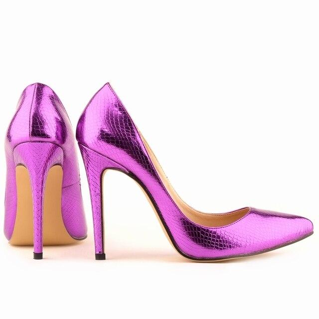 LOSLANDIFEN Small Crocodile Women Pumps Sexy Cusp Shoes