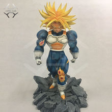 Comic club anime dragon ball z gk super saiyan troncos 34cm resina figura de ação brinquedos(China)