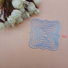 8 см шт базовые волнистые квадратные фоторежущие штампы для