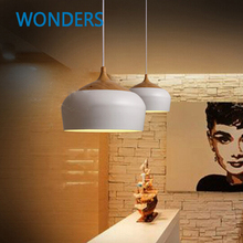 Contracted And Contemporary Pendant Lights White/black Vintage Lamp Restaurant Hanging Lamparas Colgantes  decorative lamp