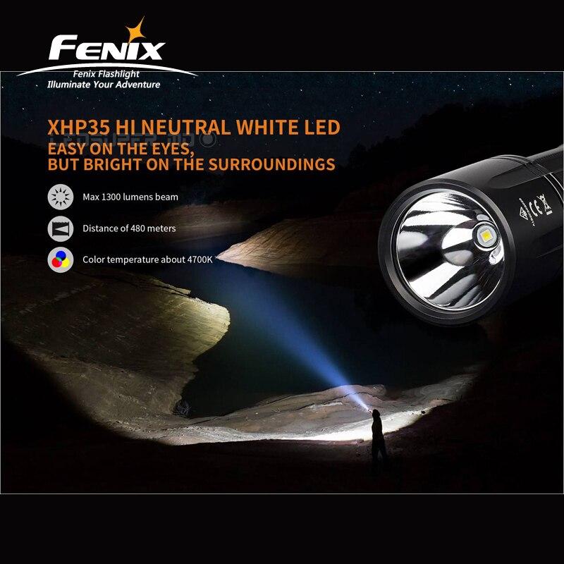 Дальний луч расстояния Fenix TK35 2018 CREE XHP35 HI нейтральный белый светодиод 1300 люмен удобный и Дальний Фонарик - 3