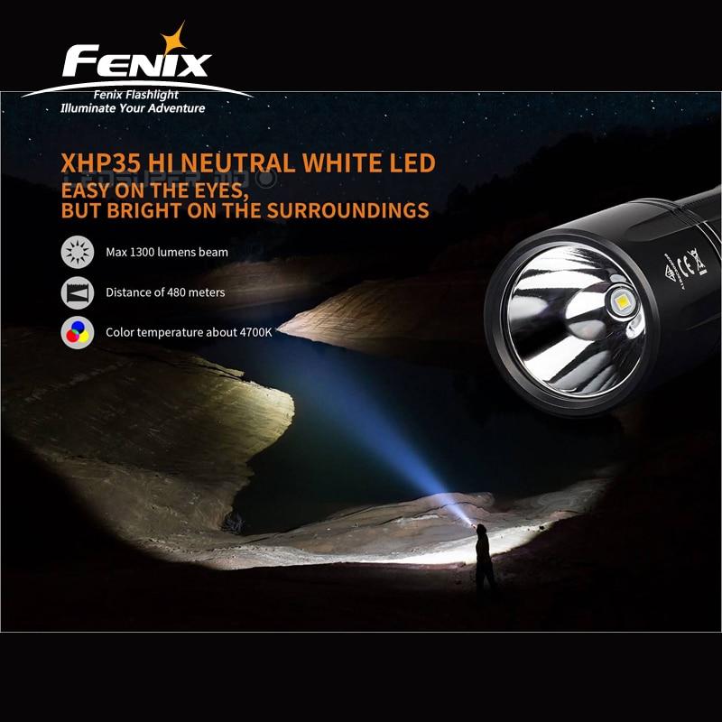 Far reaching Beam Distance Fenix TK35 2018 CREE XHP35 HI Neutral White LED 1300 Lumens Handy & Long range Flashlight - 3