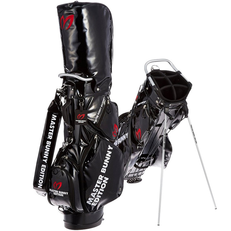 New New Golf Rack Bag PU Leather 6 Holes Golf Clubs Stand Bag With Rain  Cover 0c548c84a1d8