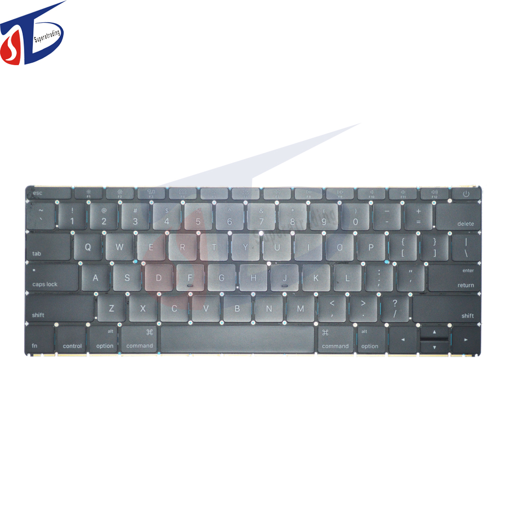 A1534 us keyboard for macbook retina 12inch A1534 clavier usa keyboard layout without backlight early 2015year 2016year early 2015year for macbook 12 retina a1534 keyboard de german layout without backlit backlight mf855 mf865 emc 2746