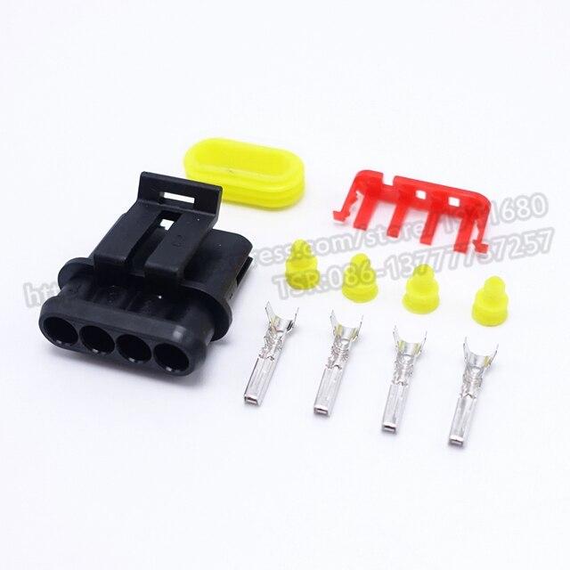4 Pins Ways 1.5 Series Enhanced Seal Waterproof female Electrical ...