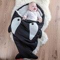 Venda quente Bonito Tubarão Dos Desenhos Animados Do Bebê Saco de Dormir Inverno Saco de Sono Do Bebê Bebê Aquecido Cobertor Swaddle Quente