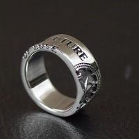 Таиланд импортированных компас кольцо стерлингового серебра 925