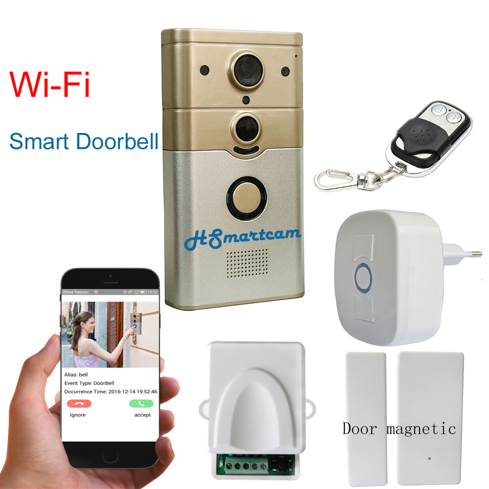 New HD Wireless Doorbell 720P Camera Video Phone WIFI Door bell Night Vision IR Motion Detection Alarm for 3G/4G IOS Android