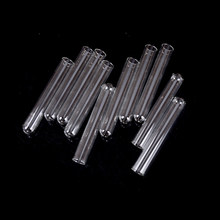10pcs 100mm 4 Inch Long Thick Wall Test Tube Pyrex Glass Blowing Tubes(China)