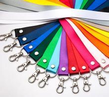 2.0 cm de Corda Colorida Para O Nome Do Titular do Cartão de ID Tag de Suspensão Corda Cabo de Corda Crachá Escola Escritório Suprimentos Fivela de Metal colhedor