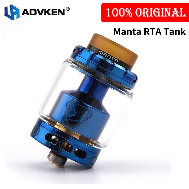 Original Advken Manta RTA Tank Zerstäuber 24mm Durchmesser 5 ml/3,5 ml Kapazität Top Füllung 510 Gewinde Elektronische zigarette RTA