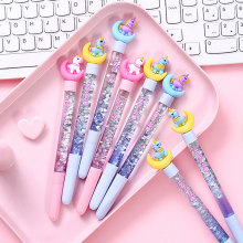 Cartoon einhorn mond gel stift schwarz tinte writting stifte canetas material escolar kawaii staitonery paperlaria schule liefert(China)