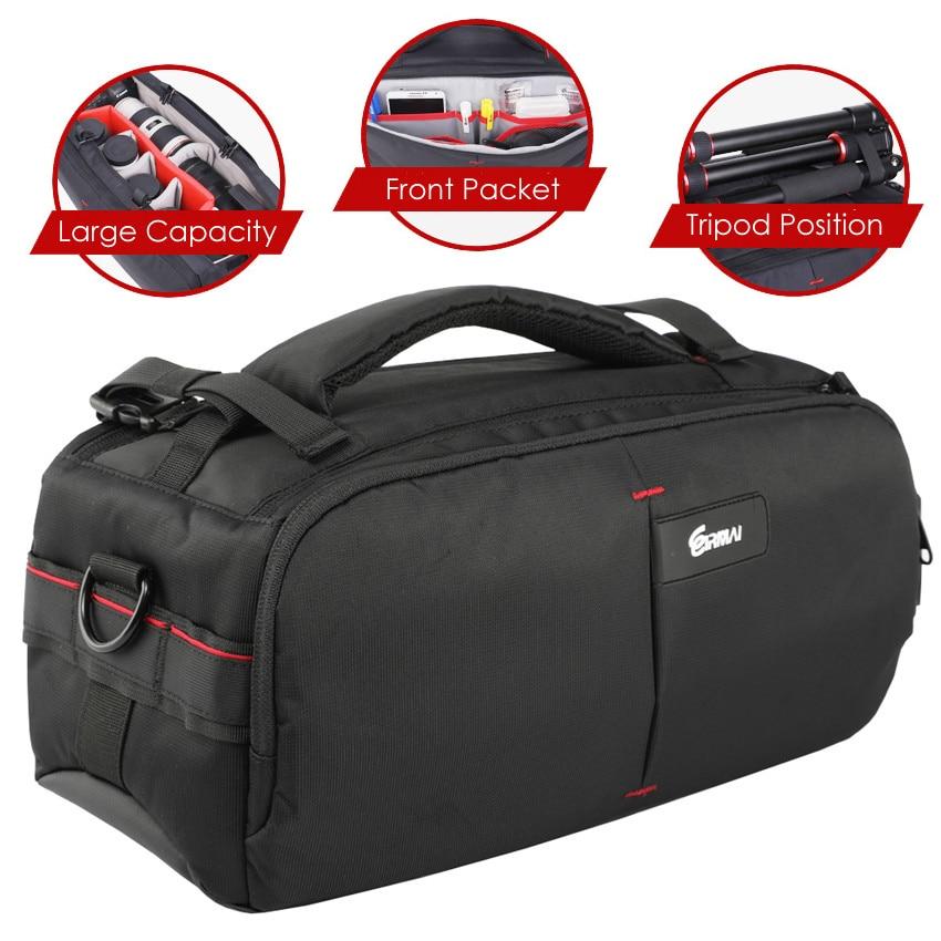 DSLR Photo Carrying Shoulder Nylon Waterproof w Rain Cover Camera Tripod Bag Lens Padded Case Pouch