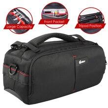 Сумка для переноски DSLR фото, нейлоновый Водонепроницаемый чехол с чехлом от дождя, сумка для штатива для камеры, чехол с подкладкой для Canon, Nikon, Sony SLR