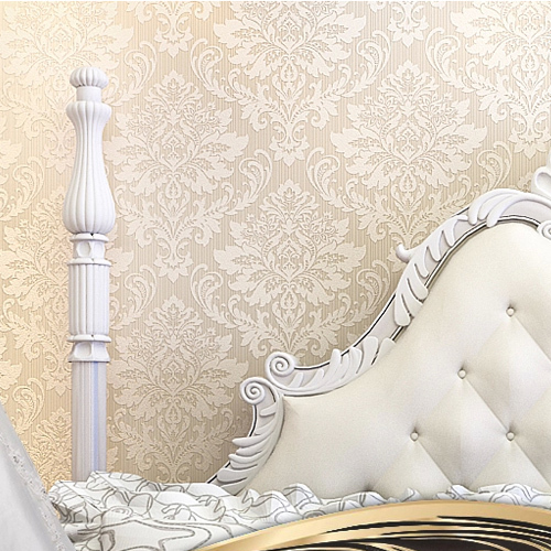Europe Damask Wallpaper Flower Flocking Wall Paper TV Sofa Living Room Background Wall papel de parede Rolo White Beige s ozment when fathers ruled – family life in reformation europe paper