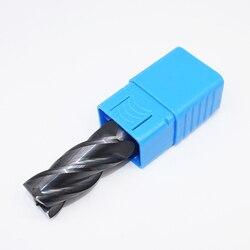 1 sztuk HRC50 20mm frezy z węglika spiekanego D20X50LXD20X100L 4 flet standardowa długość z rowkiem frezy czołowe
