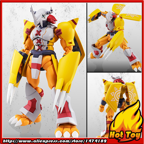 100% Original BANDAI Tamashii Nations S.H.Figuarts (SHF) Exclusive Action Figure - WarGreymon from Digimon Adventure original bandai tamashii nations robot spirits exclusive action figure rick dom char s custom model ver a n i m e gundam