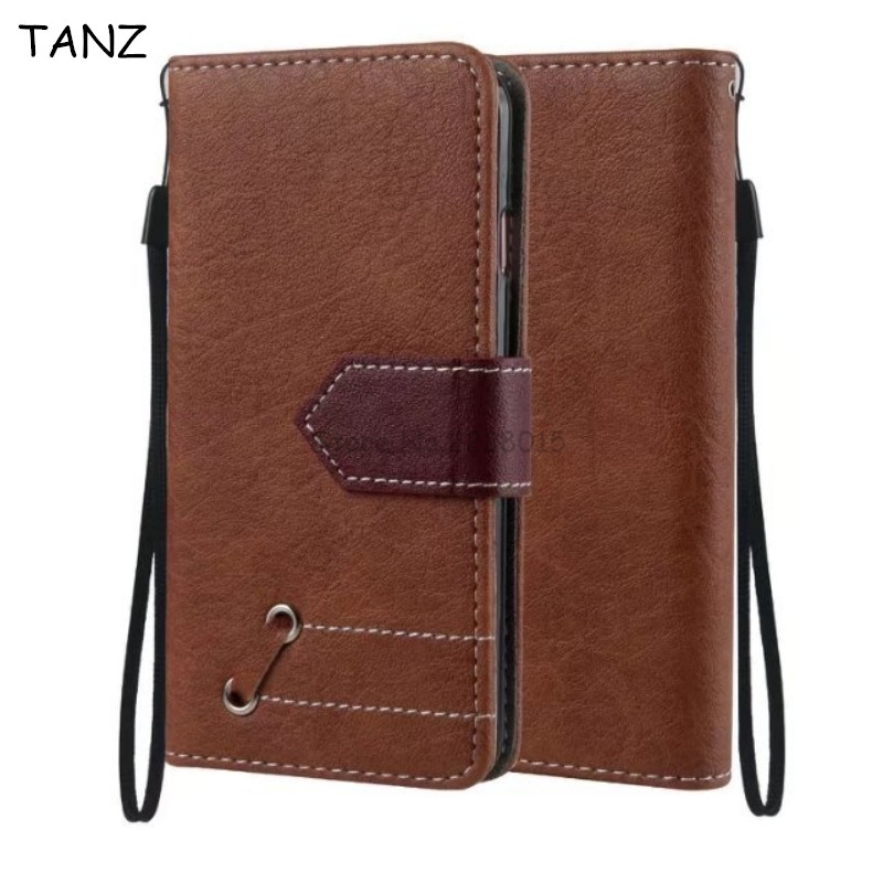 TANZ Hit Color Flip Leather Case For iPhone 6 6s 7 Plus Wallet Coque+Silicone Back Cover For iPhone 5 5S SE 6plus 7plus 6Splus