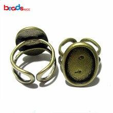 Beadsnice медный основа для колец идеально подходит для кабошонов самый модный дизайн колец 13x18 мм заготовки для колец в заводской цене ID7351