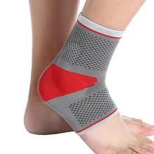 Sports Ankle Guard Pad Support Elastic Silicone Pressure Ankle Brace Basketball Mountaineering Anti-Sprain Protective Gear