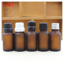 10 ml Brown Frosting Glass Essential oil Bottle Plug Within The Flat Cover Frosted Repackaging Dilute Spot Empty Bottles