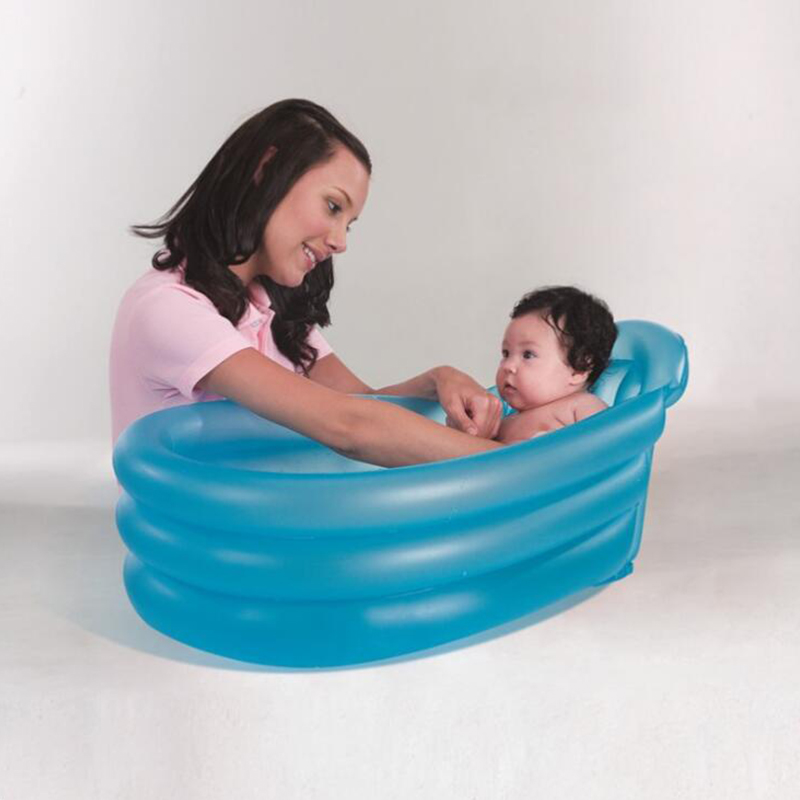 Red And Blue Inflatable Bottom Bath High Quality Male Female Baby  Bath Tub PVC Inflatable Inflatable Pool Ball Pool 79*51*33CM