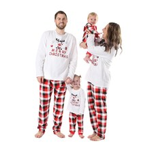 5e6e8353a8 (Ship from US) Xmas Family Christmas Pajamas Set Mother Father Kid Warm  Girls Boys Mommy Sleepwear Family Matching Clothes US Warehouse