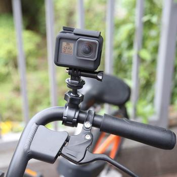 SHOOT O kształt zacisk kierownicy uchwyt na gopro Hero 8 7 6 5 czarny Xiaomi Yi 4K Sjcam Sj4000 Eken jazda na rowerze dla Go Pro 7 5 akcesoria tanie i dobre opinie XTGP269 SOOCOO Garmin Szkielety i Ramki Pakiet 1 O Bike B Mount Holder bracket 15-35MM 1kg (max) 1 4 inch DC DV Digital Action camera