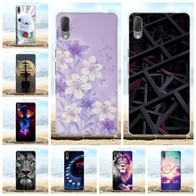 For Sony Xperia L3 Phone Case Ultra-thin Soft TPU Silicone Cover Flowers Patterned Shell
