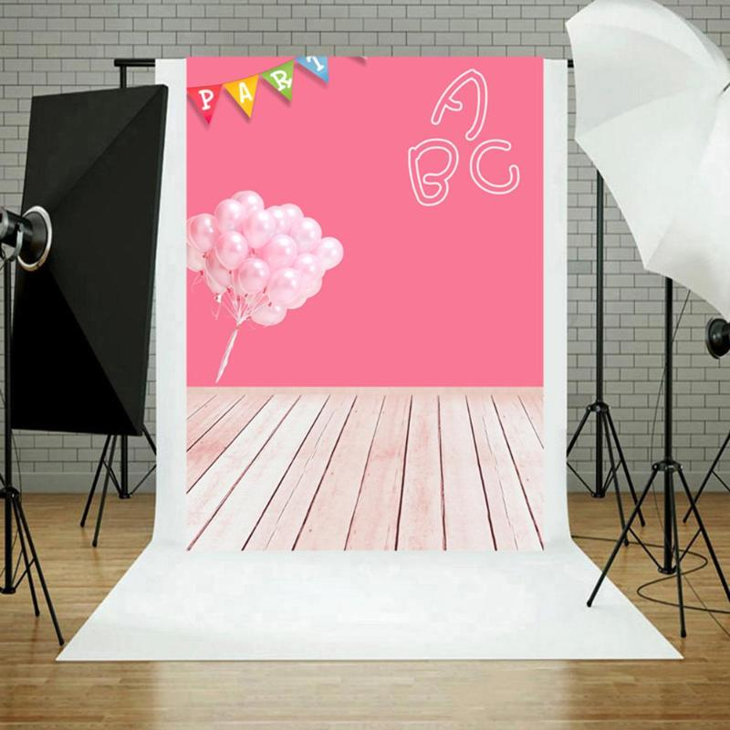 Vanpower Party Balloons Gallery Photo Studio Photography Backdrop Background Cloth fotografia Portrait Photo Backgrounds 5 x 7 ft pink love hearts print photo backdrop for wedding party portrait photography studio background s 1305