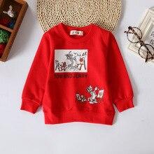 Kids Sweatshirts Spring Autumn Boy Tops Cartoon Pattern Girls Hoodies Outerwear Baby Costume Children Clothing Casual Sweatshirt