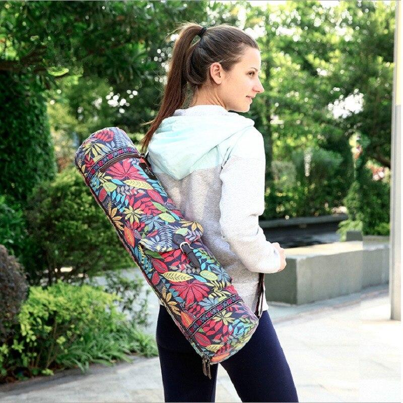 Bolsa de Yoga Bolsa à Prova à Prova Dwaterproof Água Lona Yoga Mochila Ginásio Esteira Bolsa Pilates Case Portadores
