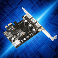 Super-Speed 4 Port USB 3.0 PCI-E PCIe PCI Express Expansion Card For Desktop