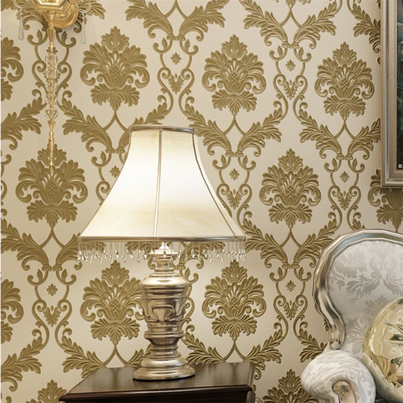 beibehang Luxury European style Ma leather non - woven large flowers wallpaper living room background wall 3D stereo wallpaper beibehang european luxury fine imitation embroidery non woven garden garden flowers 3d three dimensional relief wallpaper