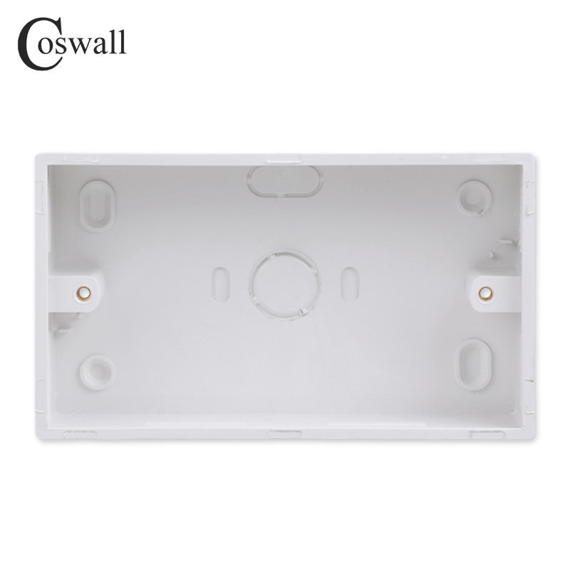 Coswall External Mounting Box 146mm*86mm*32mm for 146*86mm Standard Switch and Socket Apply For Any Position of Wall Surface()