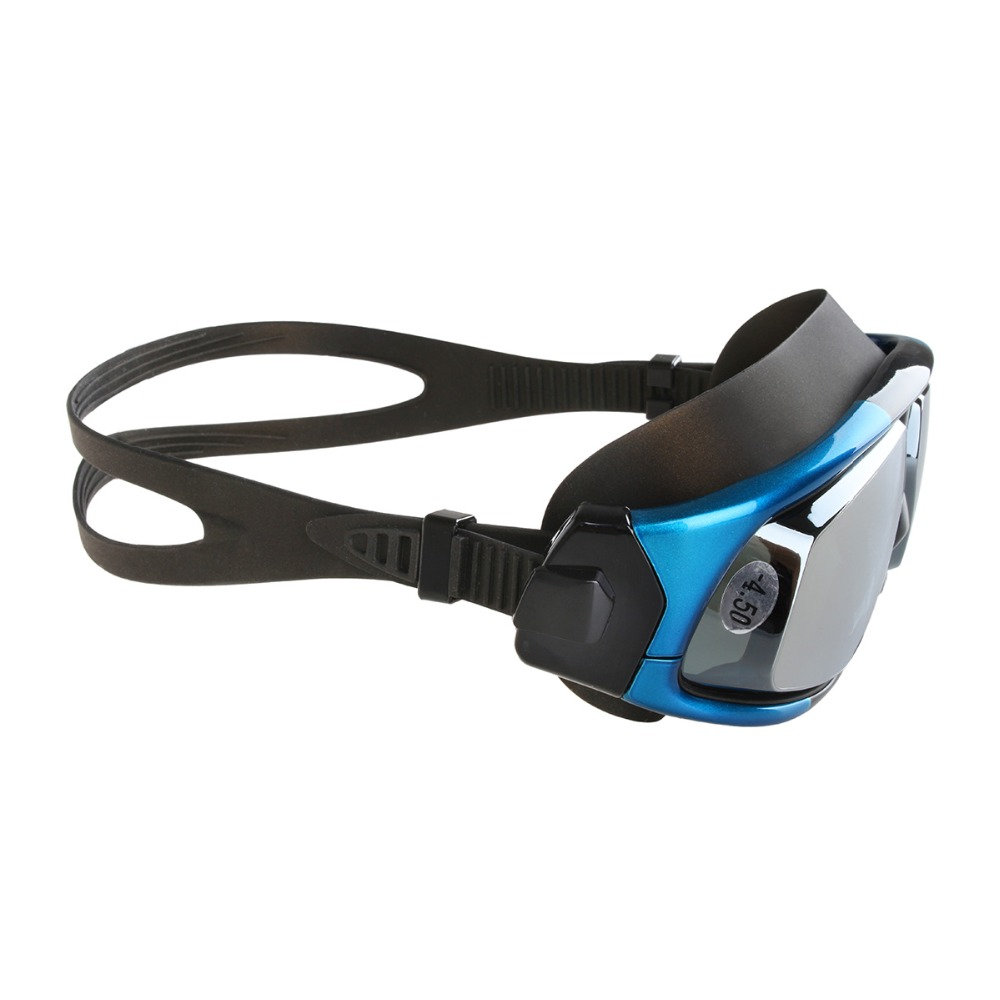 copozz nearsighted silicon waterproof swimming goggles and anti fog uv eyewear with mirrored large frame