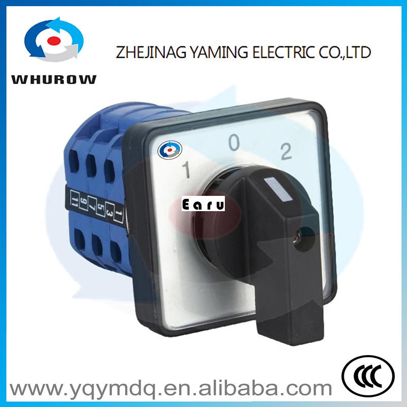 Factory Supplied LW26-20/3 High quality manual changeover switch rotary switch cam switch DC voltage three poles Sliver contacts
