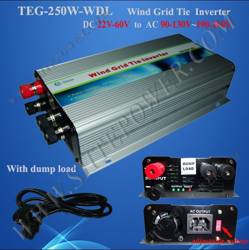 250w grid tie inverter for wind turbine generator 22-60v dc to ac 110v 220v wind grid tie inverter solar power on grid tie mini 300w inverter with mppt funciton dc 10 8 30v input to ac output no extra shipping fee